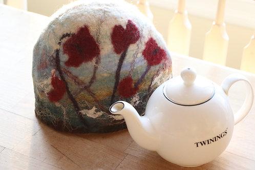 Poppy Tea Cozy Wet Felting Kit