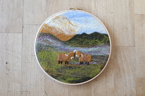 Highland Cow Wool Painting Kit