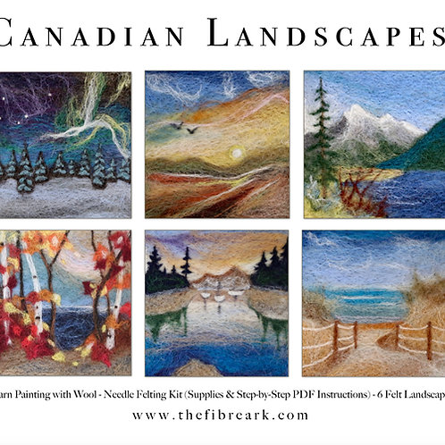Canadian Landscapes Wool Painting Kit (makes 6)