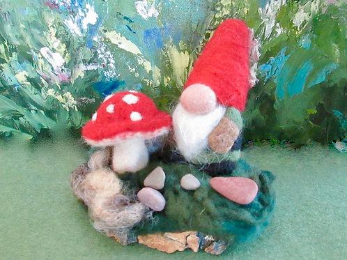Gnome & Mushrooms Kit & Project
