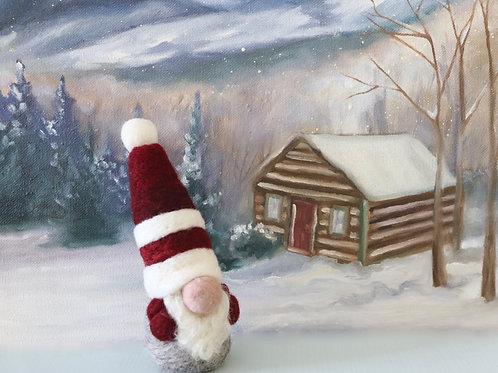Christmas Gnomes Kit Burgundy (makes 2)