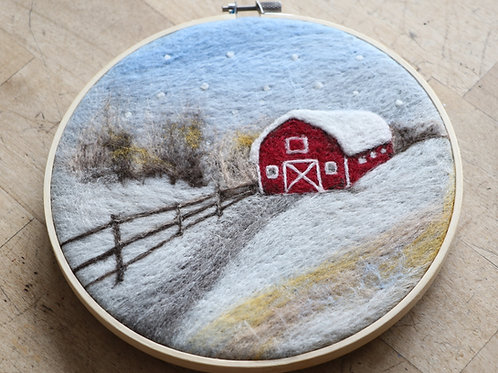 Red Barn Felted Painting Kit
