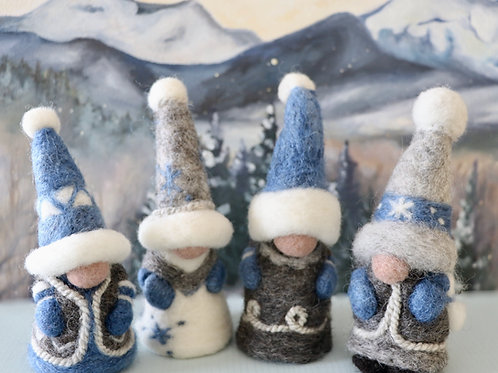 Christmas Gnomes Kit - Blue (makes 2)