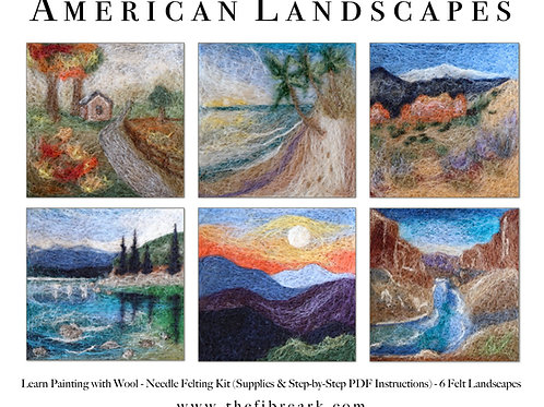 American Landscapes Wool Painting Kit (makes 6)