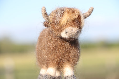 Highland Cow Felting Kit (makes 2)
