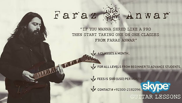 faraz anwar skpe guitar classes