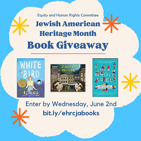 Jewish American Heritage Month Book Giveaway