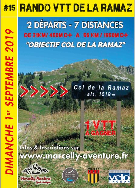Rando VTT du col de la RAMAZ... pour les 15ans on y passe !