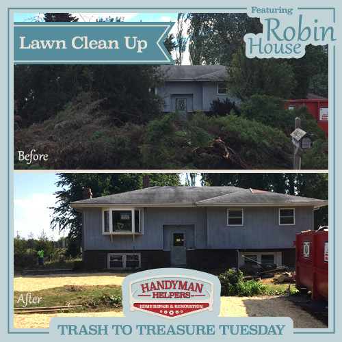 Robin House Lawn Clean Up