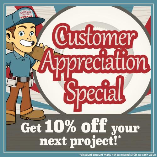 Customer Appreciation Special