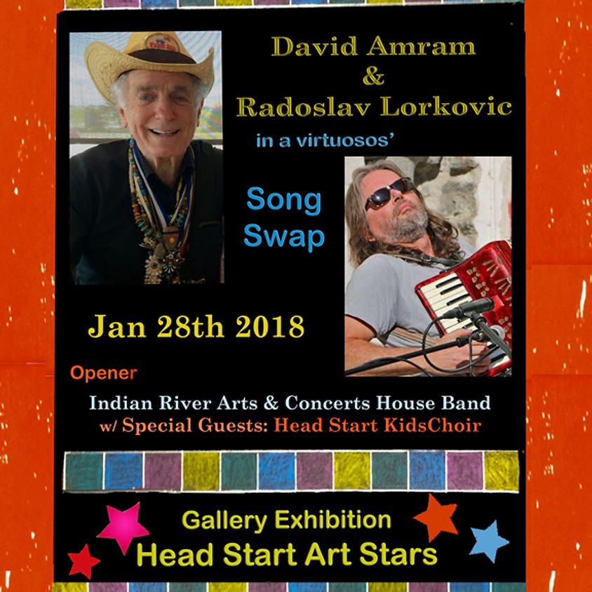 David Amram & Radoslav Lorkovic w/ opener IRAC House Band