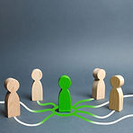 The green figure of a person unites othe
