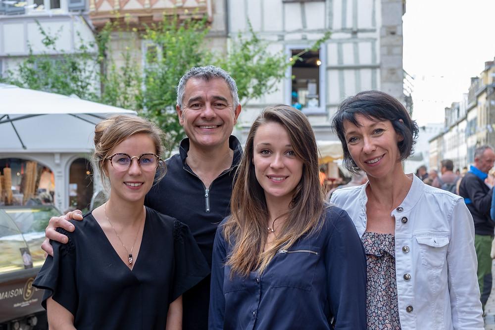 Stéphanie, Laurent, Pauline et Camille Bacquer de La Cantine des Chefs à Quimper