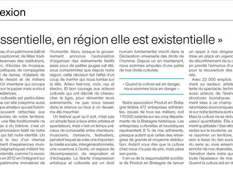 """Tribune : """"La culture est essentielle, en Bretagne elle est existentielle"""""""