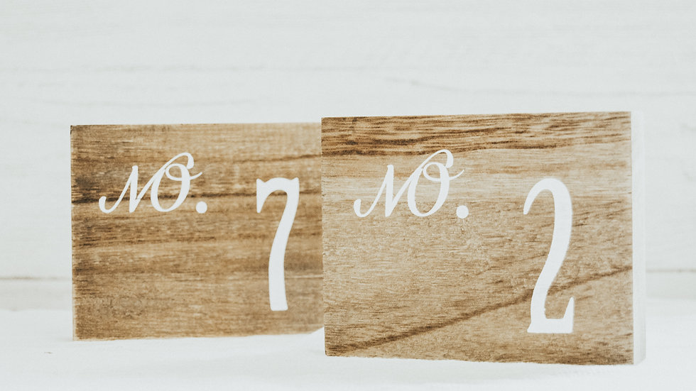 Table Number - The Graham Collection