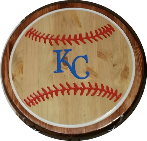 KC Royals Baseball - Wall Hanger