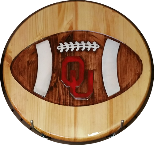 "Oklahoma Sooners ""Football"" - Wall Hanger"