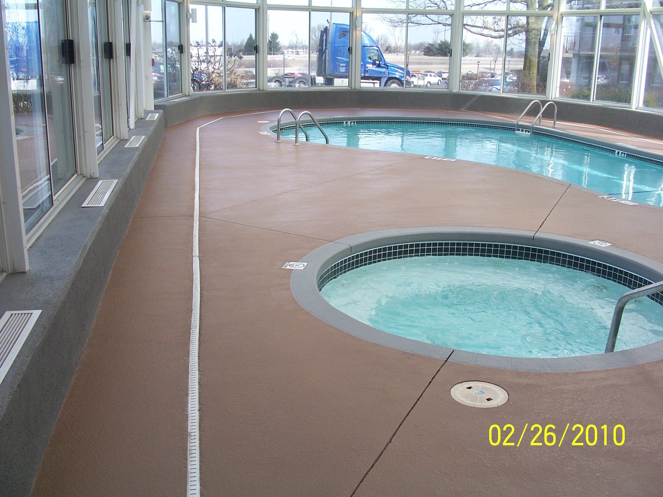 Pool Deck Sprayed Crete