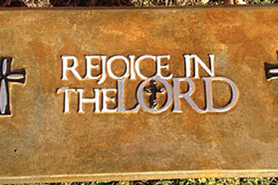 Rejoice in the Lord Bench