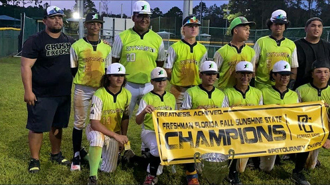 2020 Empire Baseball Freshman Florida Fall Sunshine State Champions- Perfect Game