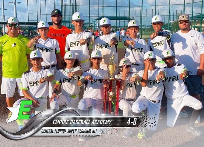 2020 13U Empire Baseball Academy Central Florida Super Regional NIT Champs