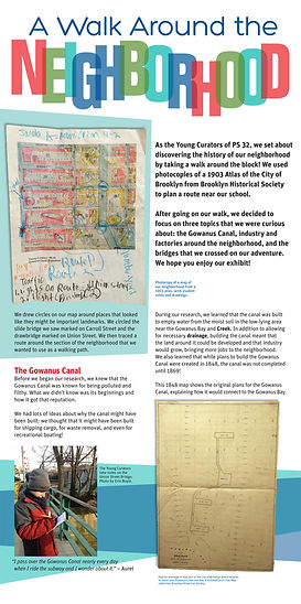 graphic design, exhibit graphics, exhibit design, Brooklyn, history, public school, school program, PS 32