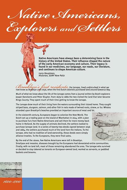 exhibit design, exhibition design, Brooklyn, Brooklyn Historical Society, Native American, history exhibit, graphic design