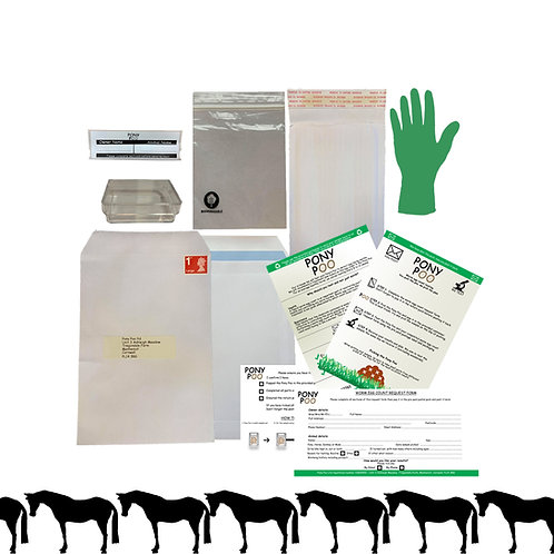 Annual Worm Egg Count Pack for 10+ horses - SAVE £5 per horse