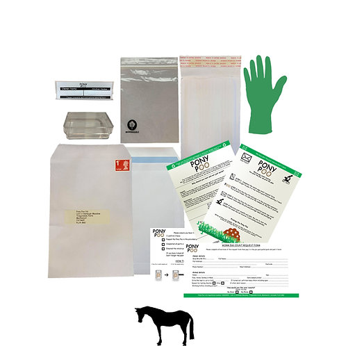 Annual Worm Egg Count Pack - SAVE £5 per horse