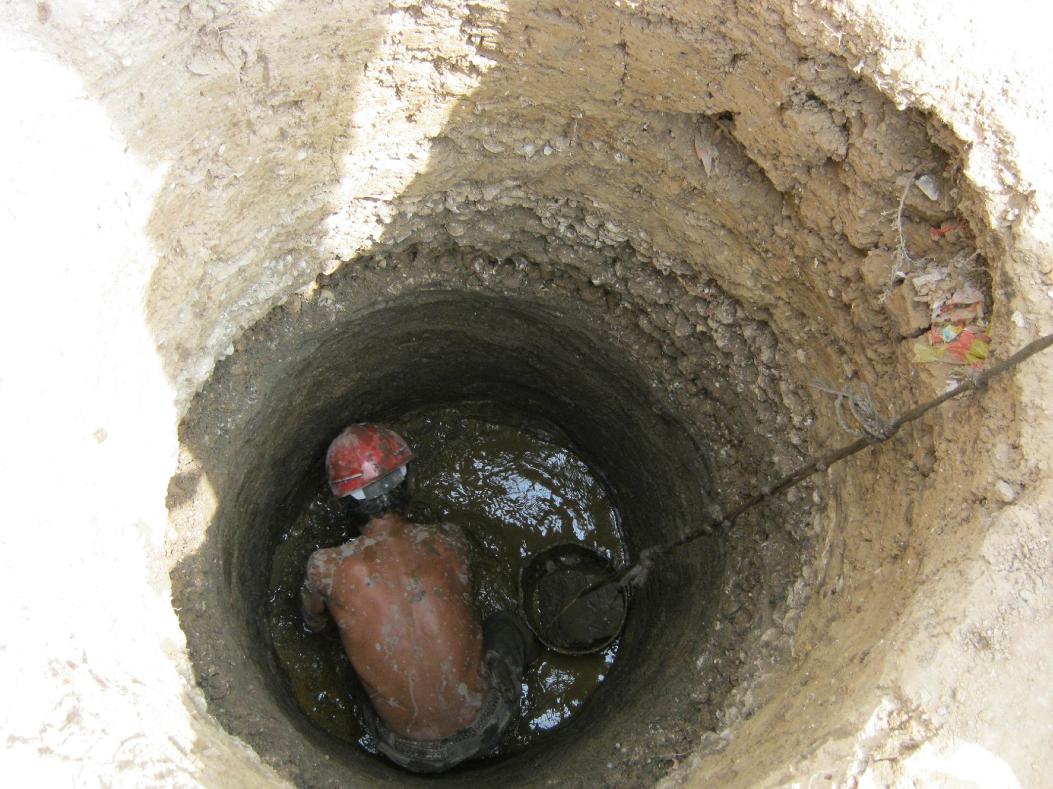 Excavating a Well