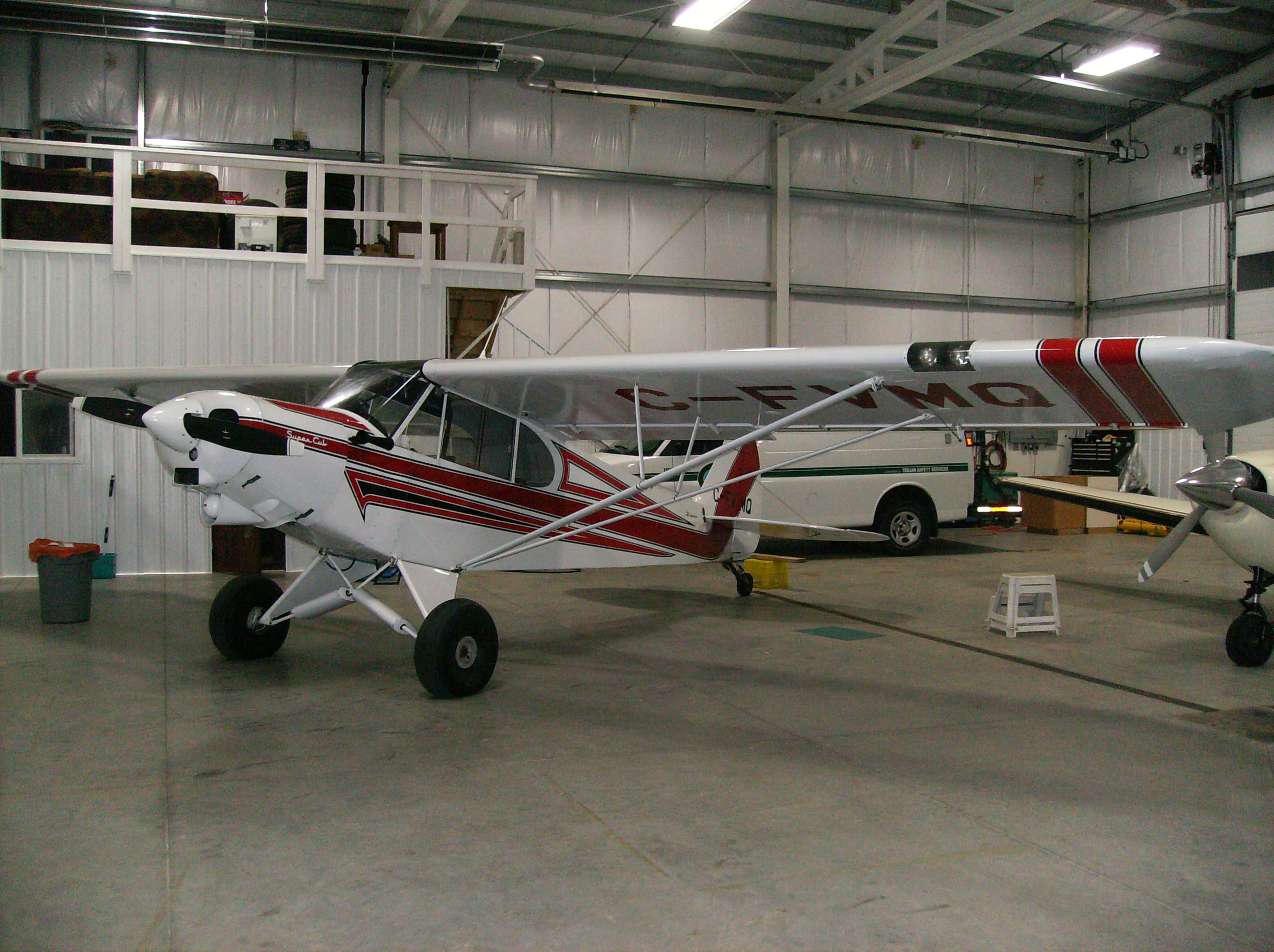 Red and white Airplane Finshed 004