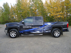 Browns wrap finsihed gmc pickup (4)
