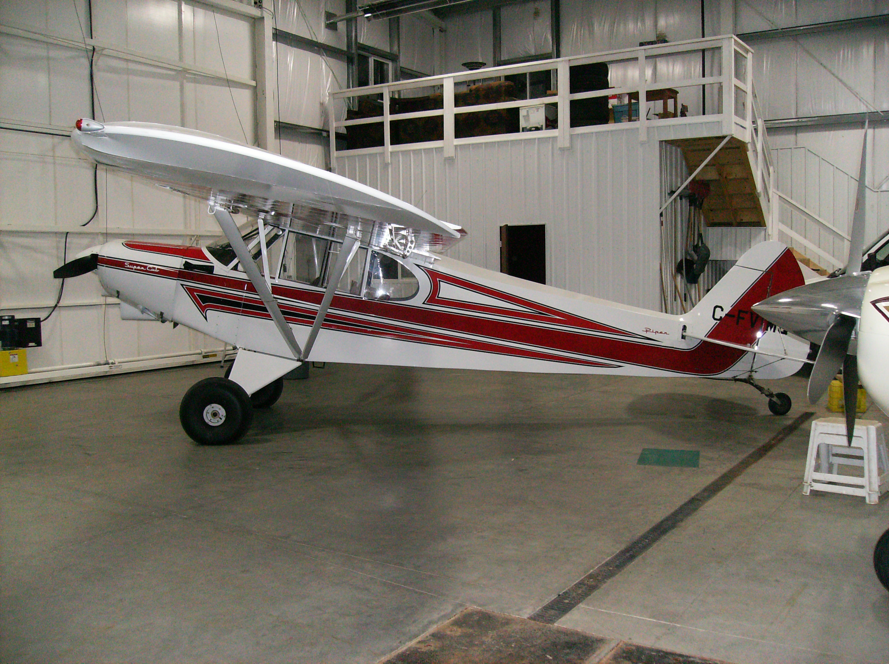 Red and white Airplane Finshed 003