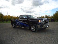 Browns wrap finsihed gmc pickup (2)