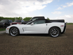 Corvette white finished 2011 May (1)