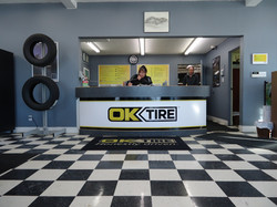 Ok Tire counter finished