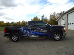 Browns wrap finsihed gmc pickup (3)