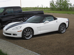 Corvette white finished 2011 May (2)