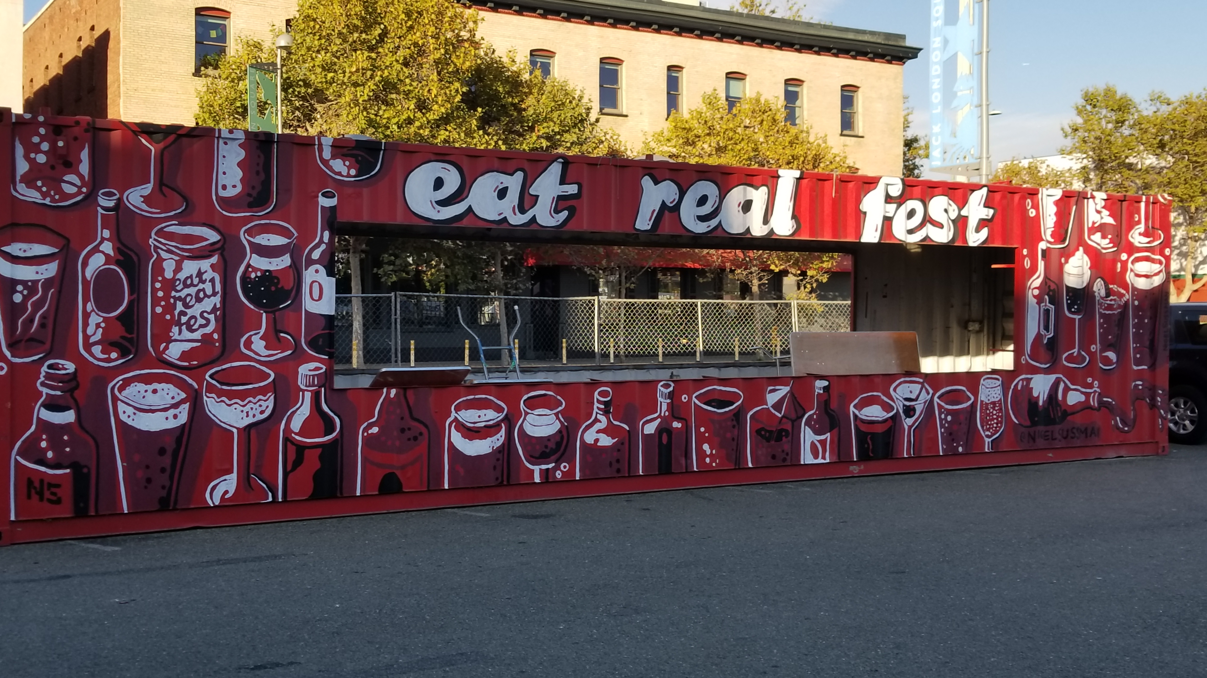 Eat Real Festival Drinks Stand