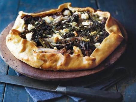 Caramelized Broccoli & Shallot Tart with Feta