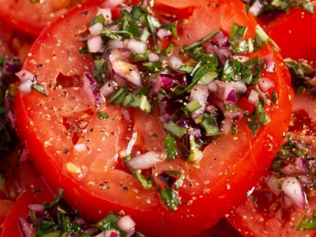 Marinated Beef Tomato Salad