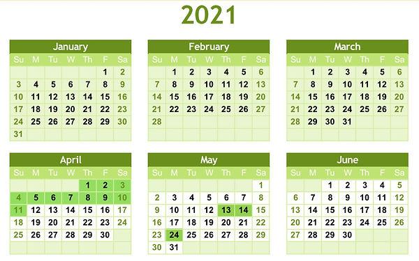 2021 Holiday Schedule Jan - June.JPG