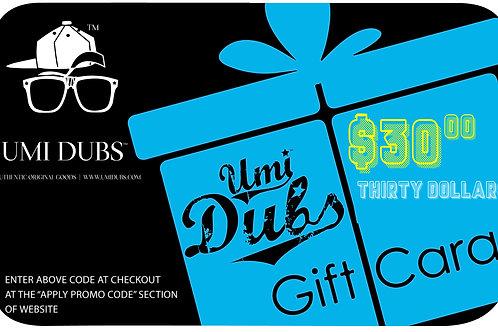 Umi Dubs E-Gift Cards