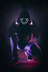 Neon Mask Night London Photoshoot