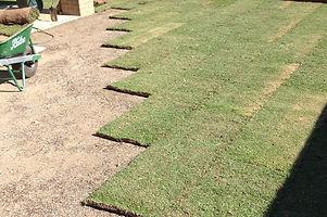 Brick bond laid turf