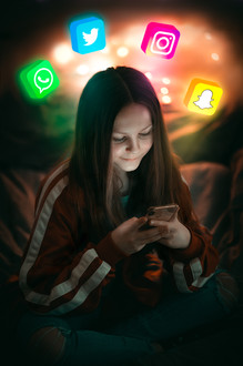 Photoshoot teenager social media image