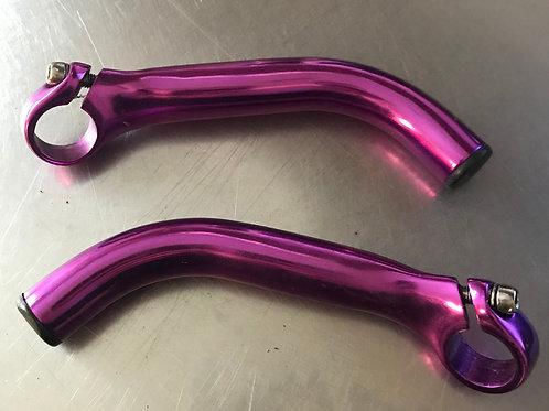 Purple handlebars extensions