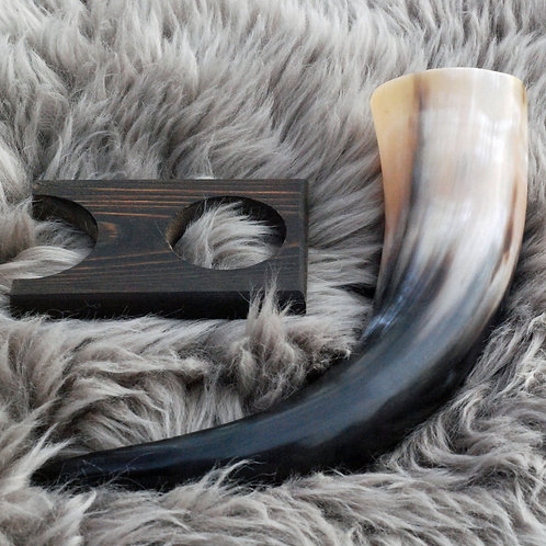 Drinking Horn and Stand  10-12oz./300ml