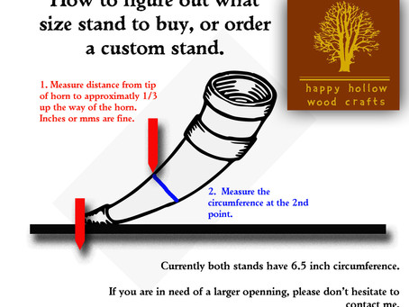 Drinking Horn Stand Sizing