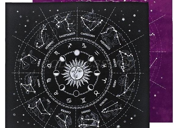 12 Constellations Tarot Card Tablecloth Velvet Divination Altar Cloth Astrology